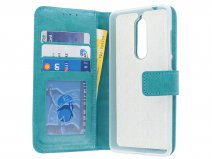 Bookcase Wallet Turquoise - Nokia 5.1 hoesje