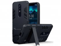 CaseBoutique Rugged Stand Case - Nokia 5.1 Plus Hoesje