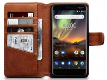 CaseBoutique Leather Case Cognac - Nokia 6 2018 Hoesje