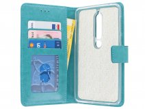 Bookcase Wallet Turquoise - Nokia 6 2018 hoesje