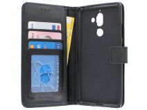 Bookcase Wallet Zwart - Nokia 7 Plus hoesje
