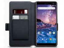 CaseBoutique Slim Zwart Leer - Nokia 7 Plus hoesje