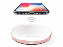 Satechi Aluminium QI Wireless Charger - Rose Gold