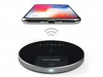 Satechi Aluminium QI Wireless Charger Draadloze Lader - Space Grey