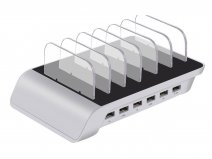 Powerstation 6-port Charger Zilver - Oplader voor 6 Devices