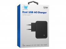 Just Wireless 4.2A Dual USB Oplader Universeel