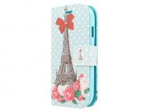 Sweet Paris Book Case - Samsung Galaxy Ace Style hoesje
