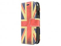 Vintage GB Flag Book Case Hoesje voor Samsung Galaxy Ace Style