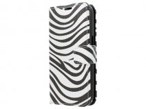 Zebra Book Case Hoesje voor Samsung Galaxy Core Plus