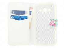 Flower Book Case Hoesje voor Samsung Galaxy Core 2