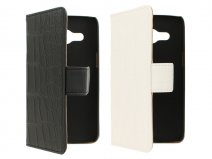 Croco Book Case Hoesje voor Samsung Galaxy Core 4G