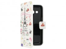 Samsung Galaxy Core 4G Wallet Case Hoesje - J'adore Paris