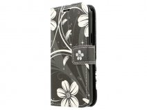 White Flowers Book Case Hoesje voor Samsung Galaxy Core 4G