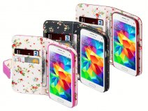 Terrapin Flower Wallet Case - Hoesje voor Samsung Galaxy S5 Mini