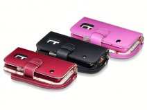 CaseBoutique Flower Wallet Case - Hoesje voor Samsung Galaxy S5 Mini