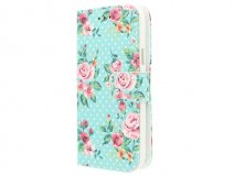 Flower Book Case - Samsung Galaxy S5 mini hoesje