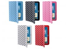 Polka Dot Trifold Stand Case voor Samsung Galaxy Note 10.1 (N8000)