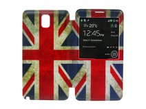 Vintage Great Brittain Flag S-View Cover voor Samsung Galaxy Note 3