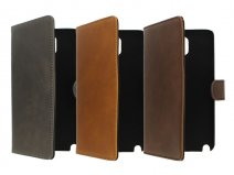 Vintage Leather Wallet Case - Samsung Galaxy Note 3 hoesje