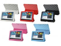 Polka Dot Trifold Stand Case voor Samsung Galaxy Tab 2 10.1