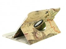 Antique Worldmap Swivel Stand Case voor Samsung Galaxy Tab 3 (10.1)