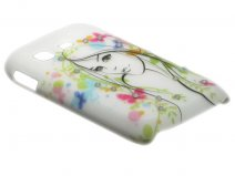 Crystals ''Beautiful Girl'' Case Samsung Galaxy Pocket (S5300)
