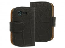 Croco Book Case Hoesje voor Samsung Galaxy Pocket Neo (S5310)