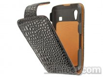 Luxury Croco Flip Case voor Samsung Galaxy Ace