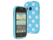 Polka Dot TPU Case - Samsung Galaxy Young S6310 Hoesje