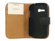 Mobiparts Leren Classic Wallet Case - Samsung Galaxy Fame Lite hoesje