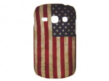 USA Vintage Flag Case voor Samsung Galaxy Fame (S6810)