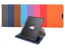 Roterende Swivel Canvas Case - Hoes voor Samsung Galaxy Tab 4 10.1