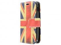 Vintage GB Flag Book Case Hoesje voor Samsung Galaxy Pocket 2