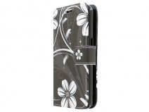 White Flowers Book Case Hoesje voor Samsung Galaxy Core Prime