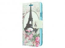 Retro Paris Book Case - Samsung Galaxy A3 2015 hoesje