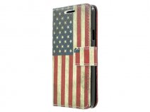 Vintage USA Book Case - Samsung Galaxy A3 2015 hoesje