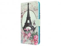 Retro Paris Book Case - Samsung Galaxy A3 2016 hoesje