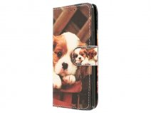 Puppy Dog Bookcase - Samsung Galaxy A3 2016 hoesje