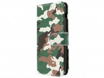 Camouflage Bookcase - Samsung Galaxy A3 2017 hoesje
