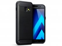 Rugged Carbon TPU Case - Samsung Galaxy A3 2017 hoesje