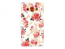 Romantic Flowers Book - Samsung Galaxy A5 2015 hoesje