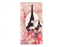 Retro Paris Book Case - Samsung Galaxy A5 2015 hoesje