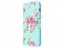 Flower Bookcase - Samsung Galaxy A5 2017 hoesje