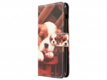 Puppy Dog Bookcase - Samsung Galaxy A5 2017 hoesje