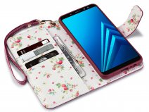 CaseBoutique Bookcase Floral - Galaxy A8 2018 Hoesje