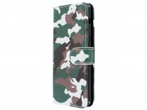 Camouflage Bookcase - Samsung Galaxy A8 2018 hoesje