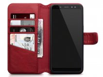 CaseBoutique Bookcase Rood Leer - Galaxy A8 2018 Hoesje