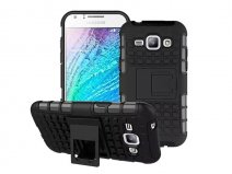 Rugged Kickstand Case - Samsung Galaxy J1 2015 hoesje