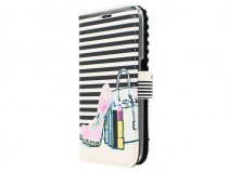 Fashion Bookcase - Samsung Galaxy J1 2016 hoesje