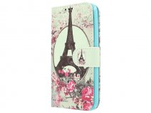 Retro Paris Bookcase - Samsung Galaxy J1 2016 hoesje